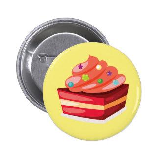 Insignia poner crema decorativa del botón de la pin redondo de 2 pulgadas