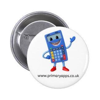 Insignia primaria de Apps - con el weblink Pin Redondo De 2 Pulgadas