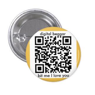 insignia punky cibernética del bitcoin pin redondo 2,5 cm
