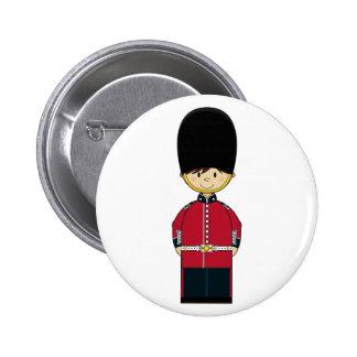 Insignia real británica linda del guardia pin redondo 5 cm