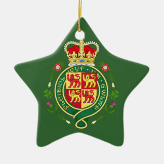 Insignia real de País de Gales Adorno Navideño De Cerámica En Forma De Estrella