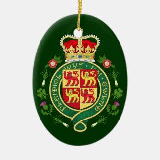 Insignia real de País de Gales Adorno Navideño Ovalado De Cerámica