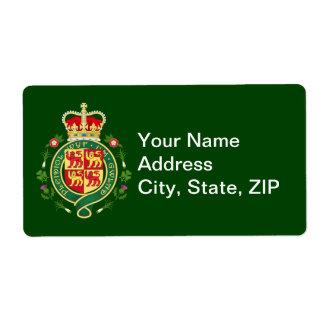 Insignia real de País de Gales Etiqueta De Envío
