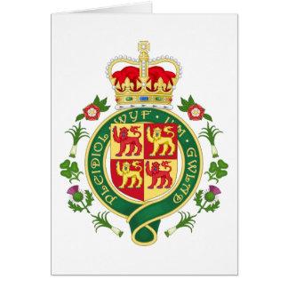Insignia real de País de Gales Tarjeta De Felicitación