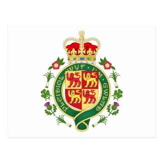 Insignia real de País de Gales Tarjetas Postales