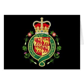 Insignia real de País de Gales Tarjetón