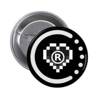 Insignia real raoo401 (botón) pin redondo de 2 pulgadas