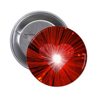 Insignia redonda del botón del corazón rojo pin redondo de 2 pulgadas