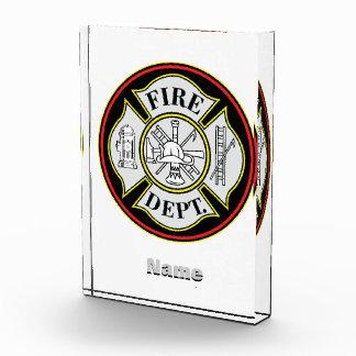 Insignia redonda del cuerpo de bomberos