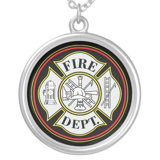 Insignia redonda del cuerpo de bomberos colgante redondo