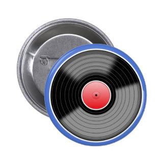 Insignia retra del Pin del disco de vinilo