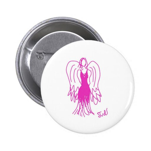 Insignia rosada del ángel pin