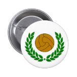 Insignia tradicional del fútbol/del fútbol pin redondo de 2 pulgadas