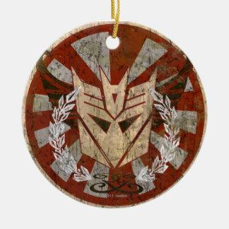 Insignia tribal de Decepticon Adorno Redondo De Cerámica