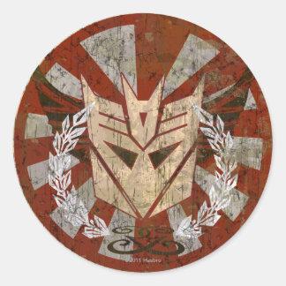 Insignia tribal de Decepticon Etiqueta Redonda