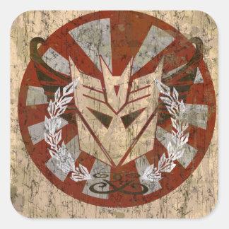 Insignia tribal de Decepticon Calcomania Cuadrada Personalizada