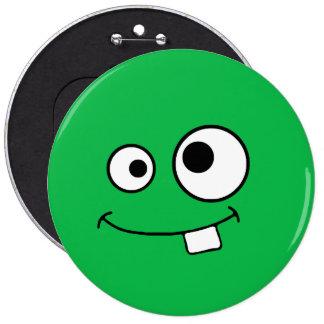Insignia verde observada Googly del monstruo Pin