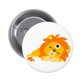 Insignia vigilante linda del botón del león del di pin redondo de 2 pulgadas
