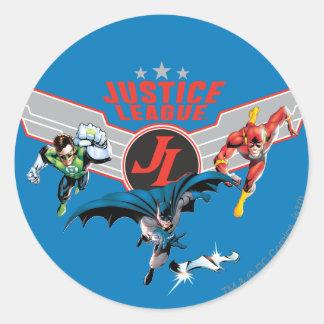 Insignia y héroes del aire del vuelo de la liga de pegatina redonda