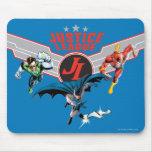 Insignia y héroes del aire del vuelo de la liga de tapetes de raton