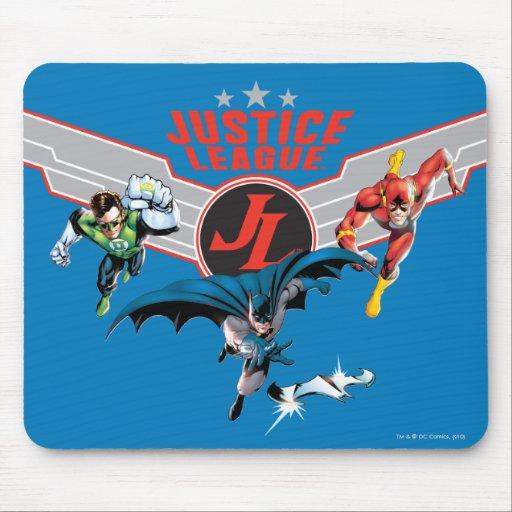 Insignia y héroes del aire del vuelo de la liga de mousepads