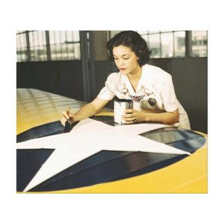 Insignias 1942 del ala de la pintura lona envuelta para galerías