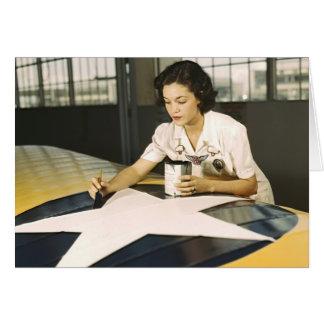 Insignias 1942 del ala de la pintura tarjeta de felicitación