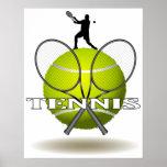 Insignias agradables del tenis impresiones