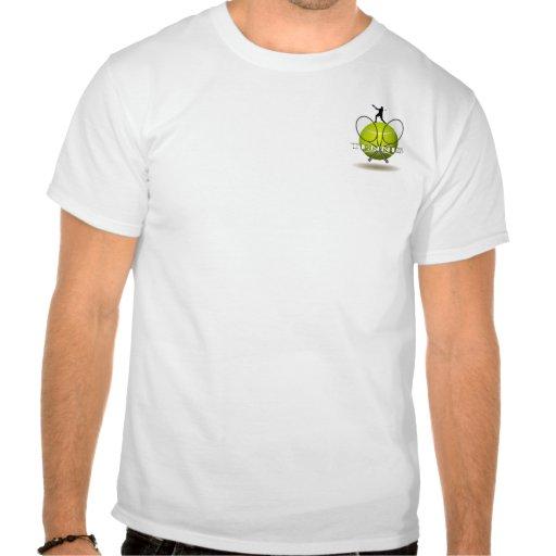 Insignias agradables del tenis t shirts