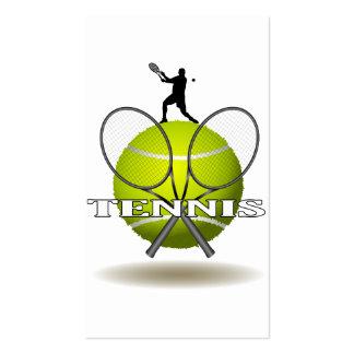 Insignias agradables del tenis tarjetas de visita