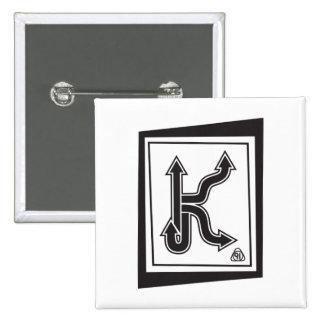 Insignias cuadradas para las k pin cuadrado