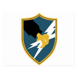 Insignias de la agencia de seguridad del ejército tarjeta postal