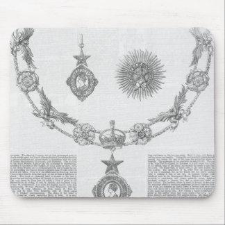 Insignias de la orden del Knighthood Tapetes De Raton