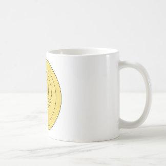 Insignias del ayudante del capellán del ejército taza de café