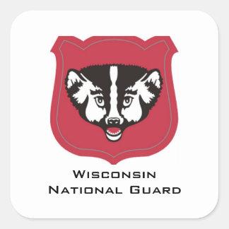 Insignias del Guardia Nacional de Wisconsin Pegatina Cuadrada