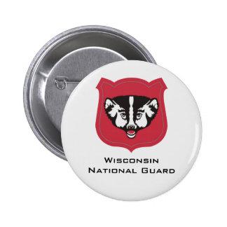 Insignias del Guardia Nacional de Wisconsin - Pin Redondo 5 Cm