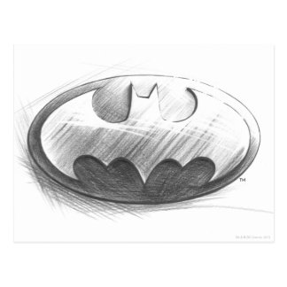 Insignias del símbolo el   de Batman que dibujan Tarjeta Postal