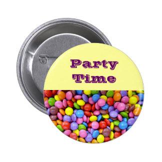 Insignias del tiempo del fiesta de los niños pin redondo 5 cm
