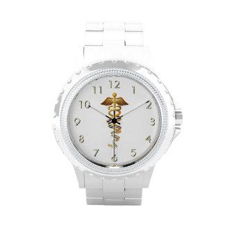 Insignias médicas reloj de mano