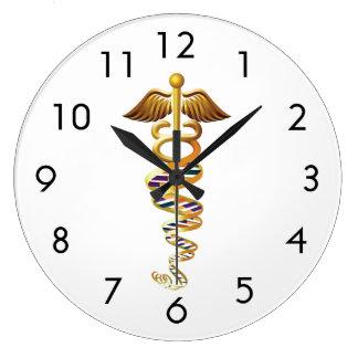 Insignias médicas reloj redondo grande