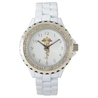 Insignias médicas relojes de pulsera