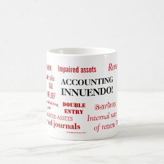 ¡Insinuacíon de la contabilidad! Tazas