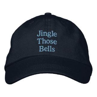 Insinuacíon divertida del navidad gorra bordada