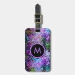 Insinuaciones coloridas de la púrpura del brillo etiquetas bolsas