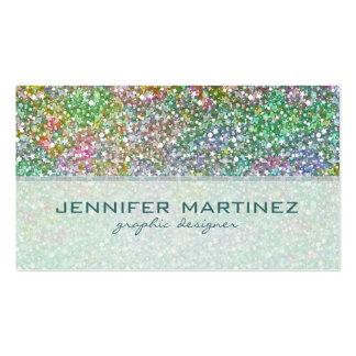 Insinuaciones Textura-Verdes del brillo colorido e Tarjeta De Visita