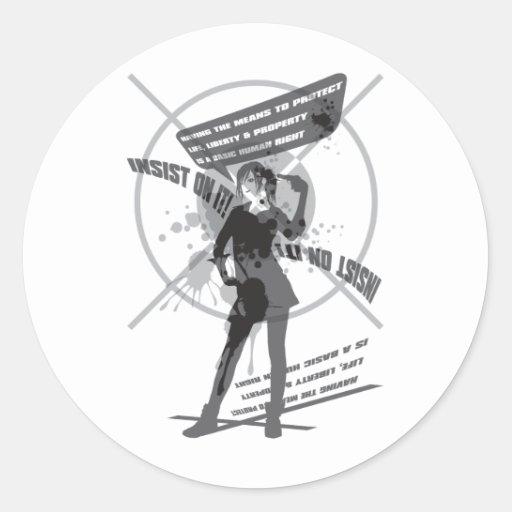 Insist_On_It! Classic Round Sticker