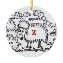 insomnia ceramic ornament