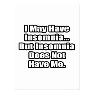 Insomnia Fighting Quote Postcard