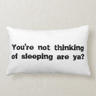 Insomnia Quote Pillow : Funny Gift