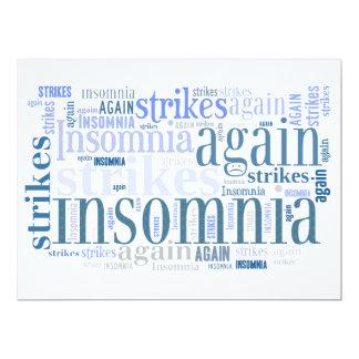 Insomnia Strikes Again Slumber Party Invites